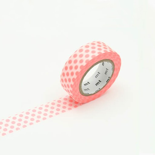 Washi Tape / MT Tape Dot Shocking Red