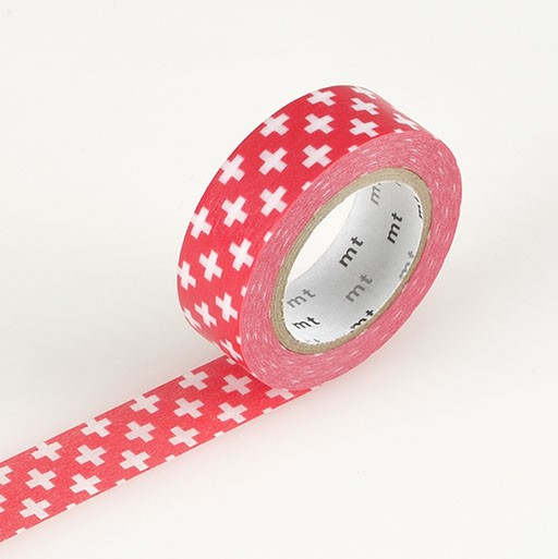 Washi Tape / MT Tape Cross Carmine