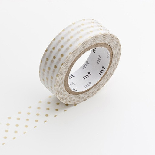 Washi Tape / MT Tape Dot S Gold