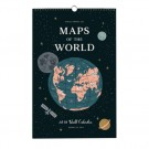 Rifle Paper Väggkalender 2018 - Maps of the World