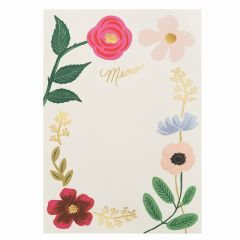 Rifle Paper Wildflowers Memo Notepad
